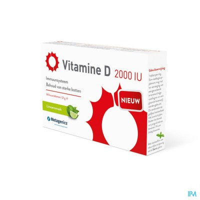 VITAMINE D 2000IU        TABL  84       METAGENICS