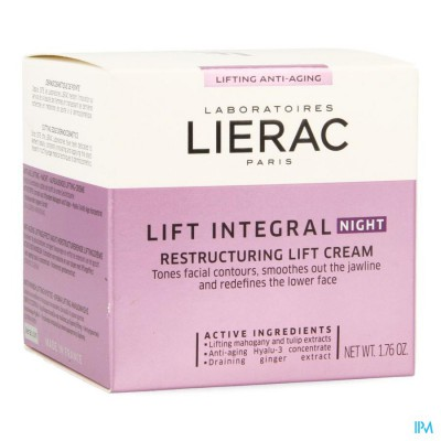 LIERAC LIFT INTEGRAL CREME AFFINANT NUIT POT  50ML