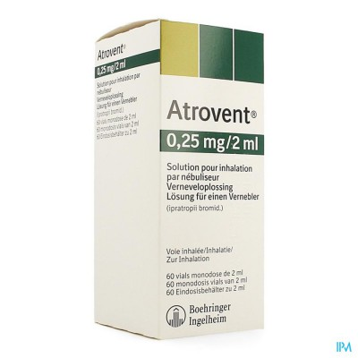 ATROVENT MONODOSE 0,25MG/2ML VIALS 60