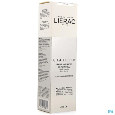 LIERAC CICA FILLER CR A/RIMPEL HERSTEL.  TUBE 40ML