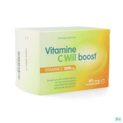 VITAMINE C WILL BOOST       CAPS 60