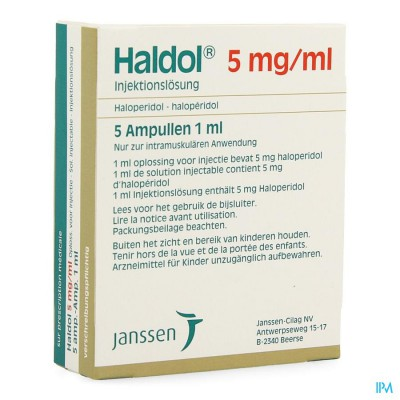 HALDOL AMP 5 X 5 MG/1 ML
