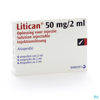 LITICAN AMP INJ 6 X 50 MG/2 ML