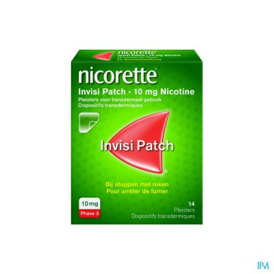 NICORETTE INVISI 10 MG PATCH 14