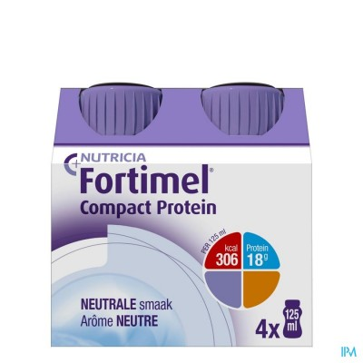 Fortimel Compact Protein Neutraal 4x125ml