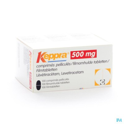 KEPPRA  500MG COMP PELL 100X 500MG