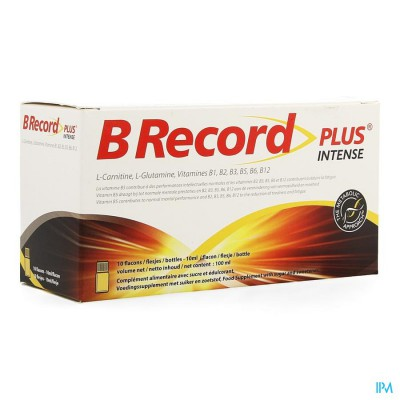 B RECORD INTENSE     FIOLES 10X10ML
