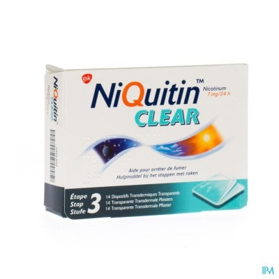 NIQUITIN CLEAR PATCHES 14 X  7 MG