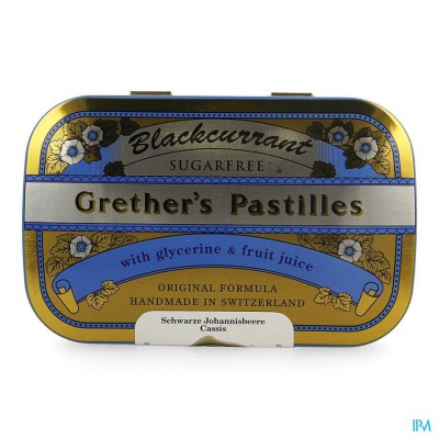 BLACKCURRANT GRETHERS ZONDER SUIKER PAST 110G