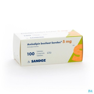 Amlodipine Besilaat Sandoz C0mp 100x5mg