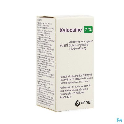 XYLOCAINE INJ 1X20ML 2%
