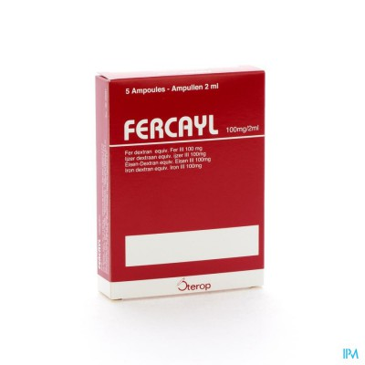 FERCAYL AMP INJ   5 100MG/2ML
