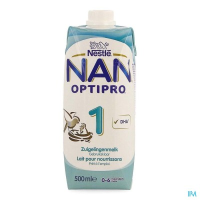 NAN OPTIPRO 1 STARTMELK 0- 6M     TETRABRICK 500ML