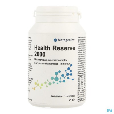 HEALTH RESERVE 2000 NF POT TABL 90 16385METAGENICS