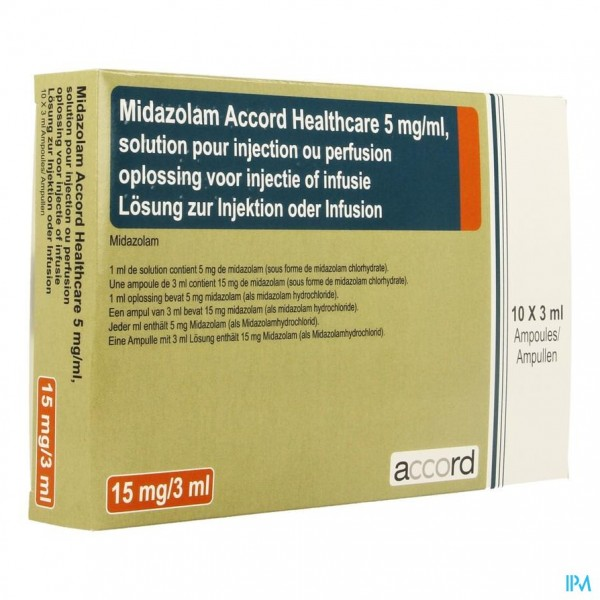 MIDAZOLAM ACCORD 5MG/ML OPL INJ AMP 10X 3ML